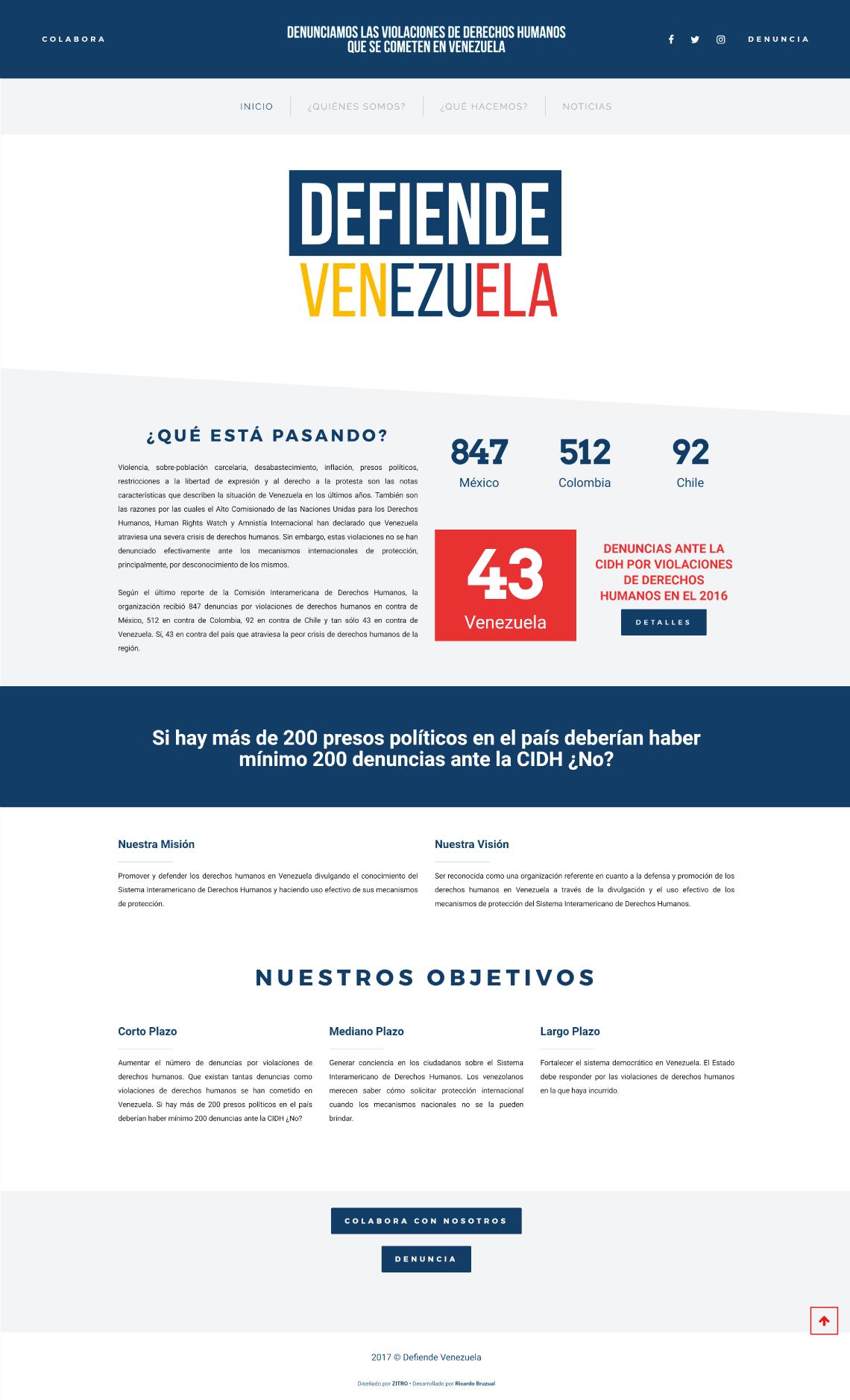 Defiende Venezuela Ricardo Bruzual Web